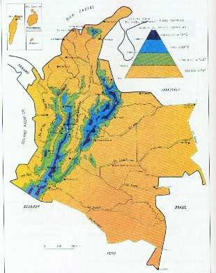 colombia climate map